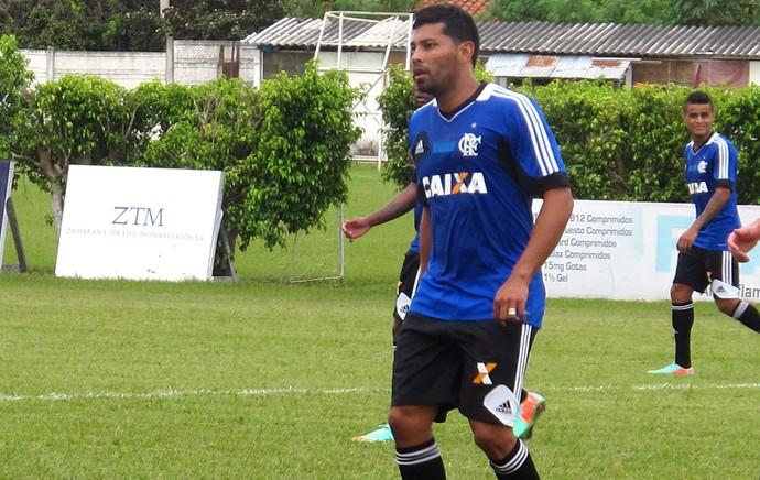 André Santos treino do Flamengo (Foto: Thales Soares)