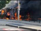 Protesto por morte do menino Ryan tem ônibus queimados em Madureira