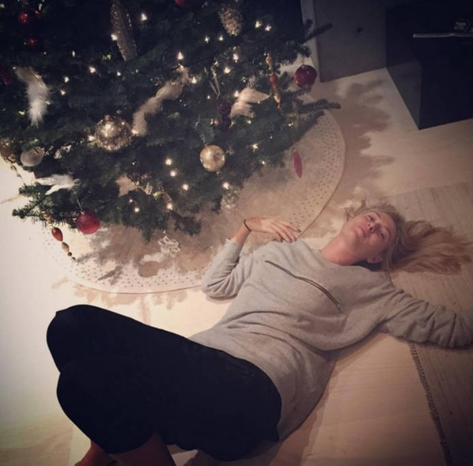 Maria Sharapova, do tênis, entrou no espírito natalino (Foto: Reprodução)