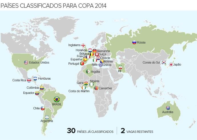 Info_PAISES-CLASSIFICADOS_Copa-2014_6 (Foto: Infoesporte)