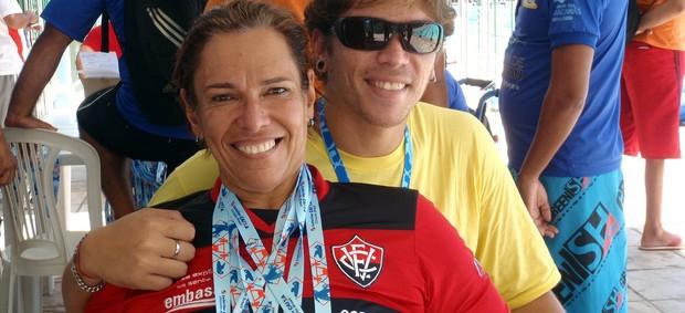 Nadadora Mônica Veloso, atleta apoiada pelo Vitória (Foto: Divulgação/EC Vitória)