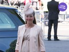 Look do dia: Grávida, Kate Middleton usa look elegante em cerimônia real