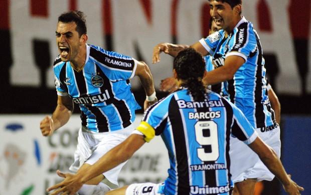 Grêmio 1 x 1 Newell's, comemoração (Foto: EFE)
