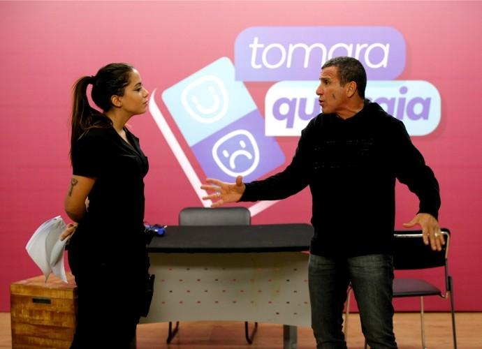 Anitta em ensaio para a estreia do programa (Foto: Artur Meninea/Gshow)