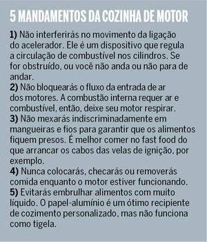 Cinco mandamentos da cozinha de motor (Foto: Autoesporte)