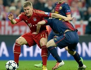 Schweinsteiger, Bayern de Munique x Barcelona (Foto: AFP)