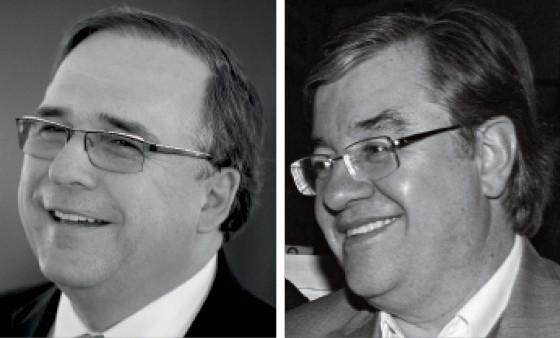Ex-deputado Sandro Mabel (à esq.), assessor de Michel Temer, e o executivo Nelson Mello. (Foto: Alan Marques/Folhapress, Fernando Ribeiro/Futura Press)