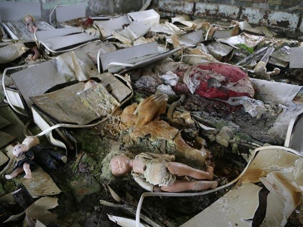 Cidade de Pripyat, perto de Chernobyl, foi evacuada em 1986 (Foto: AP Photo/Efrem Lukatsky)