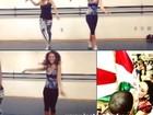 Paloma Bernardi faz aula de samba para fazer bonito na avenida
