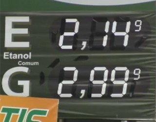 Etanol está mais caro nos postos (Foto: Reprodução)