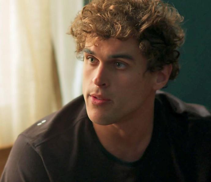 Gabriel não quer nem saber e diz que Joana não significa mais nada para ele (Foto: TV Globo)