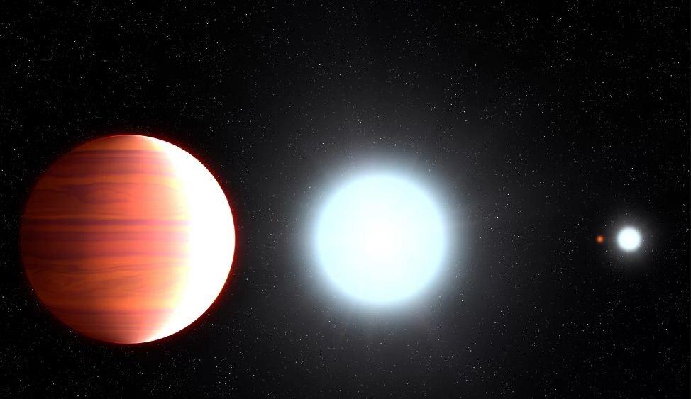 Kepler 13Ab é o único planeta de seu sistema estrelar, que tem dois sóis  (Foto: NASA)