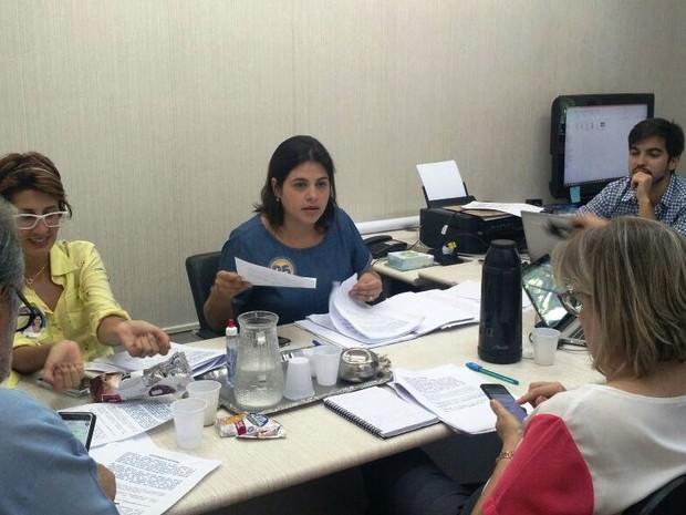 Priscila Krause (DEM) teve reunião para fechar versão final do programa de governo (Foto: Penélope Araújo/G1)