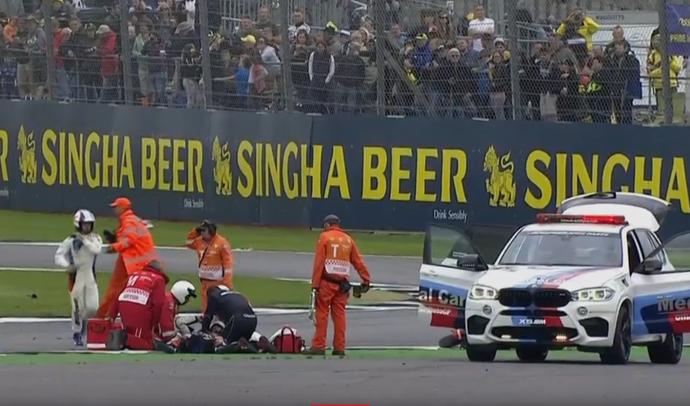Loris Baz acidente MotoGP (Foto: Reprodução)