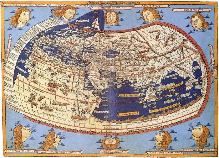 Reconstrução do século XV d.C. baseada na obra do grego Ptolomeu (Foto: Wikimedia Commons)