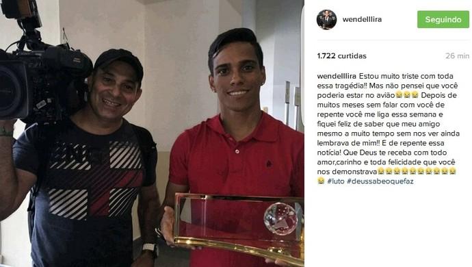 Wendell Lira lamenta morte do cinegrafista Ari Júnior (Foto: Reprodução / Instagram)