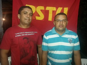Candidato ao governo Genival Cruz (à dir) e Wilamo Barbosa (à esq.) (Foto: Cassio Albuquerque/G1)