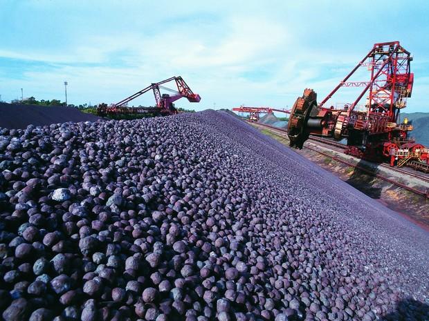 Porto de Tubarão é responsável pela maior movimentação de minério de ferro, no mundo (Foto: Arquivo/ A Gazeta)