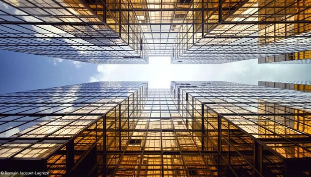 Francês capta 'corrida aos céus' de prédios de Hong Kong (Foto: Romain Jacquet-Lagrèze)