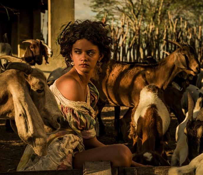 Pela primeira vez na TV, Marina Nery será Leonor, uma jovem simples de família de fazendeiros (Foto: Caiuá Franco/ Globo)
