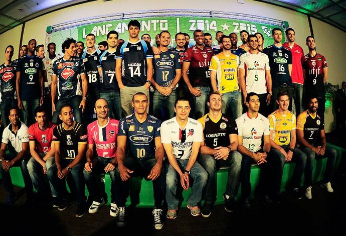 Lançamento Superliga de vôlei 14-15 (Foto: Marcos Ribolli)