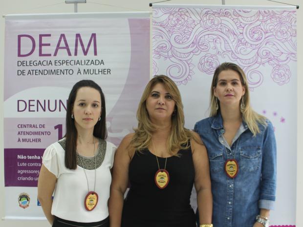 Delegadas da Deam: Franciele Candotti (à dir.), Rosely Molina (ao centro) e Marília de Britto (à esq.) (Foto: Gabriela Pavão/ G1 MS)