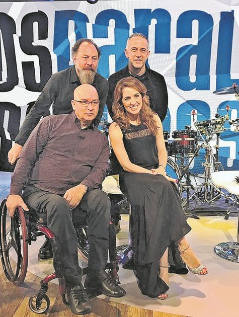 Poliana Abritta recebeu Bi Ribeiro, João Barone e Herbert Vianna no 'Fantástico' (Foto: José Fortes)