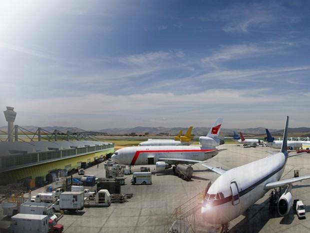 Aeroporto Internacional de Cargas pode ser construído até 2014 (Foto: Divulgação Bsquare)