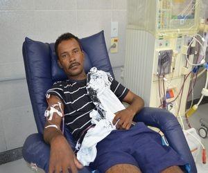 José Domingos Leite tem uma rotina definida pelos dias de tratamento (Foto: Marina Fontenele/G1)