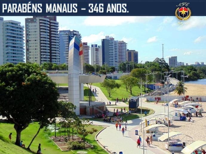 Homenagens no aniversário de Manaus (Foto: Reprodução/Facebook Fast Clube)