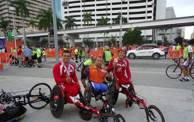Paratletas santistas, em Miami (Foto: Divulgação )