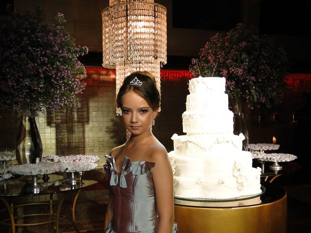 Taynara queria comemorar nova chance da festa em festa de 15 anos (Foto: Raquel Freitas/G1)