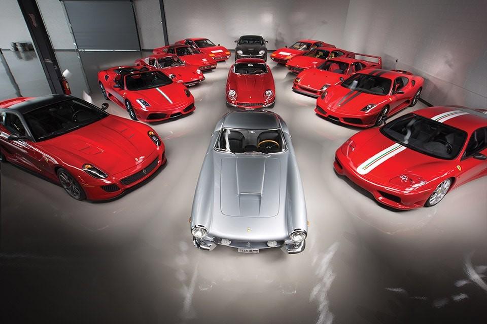 As Ferrari no leilão da Sotheby's (Foto: Divulgação)