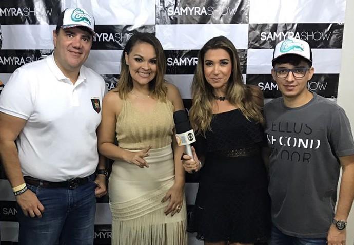 Samyra mostra detalhes do seu show e fala sobre o Carnaval (Foto: Gshow Rede Clube)