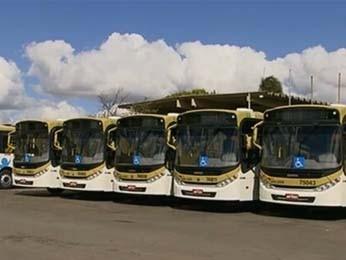 Ônibus da nova frota do Distrito Federal (Foto: TV Globo/ Reprodução)