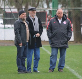 Fernando Carvalho Ibsen Pinheiro Newton Drummond (Foto: Eduardo Deconto/GloboEsporte.com)