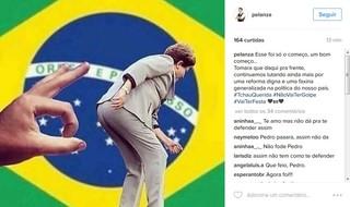 Pe Lanza faz post no Instagram sobre o afastamento de Dilma Rousseff (Foto: Reprodução/Instagram)