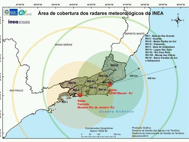 Mapa Meteorológico de Macaé  (Foto: Divulgação/UENF-INEA)