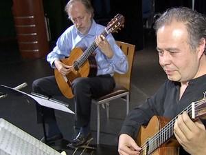 Duo do Chile se apresenta no Festival internacional de Violão, em MS (Foto: Reprodução/ TV Morena)