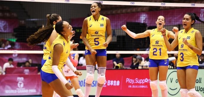 Brasil x Sérvia Grand Prix Japão (Foto: FIVB / Divulgação)