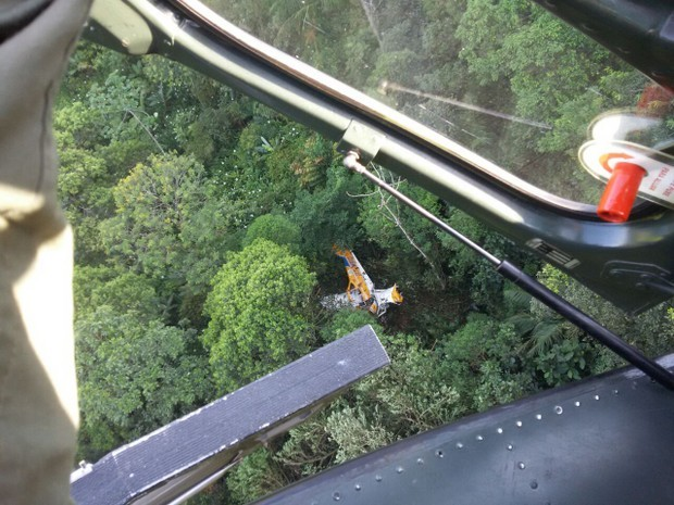 aeronave-avião-agrícola-acidente (Foto: 2ª Companhia de Aviação da Polícia Militar/Divulgação)