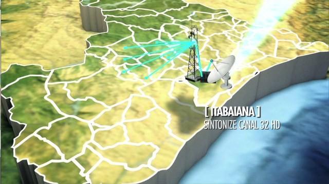 HD Itabaiana (Foto: Sinal de retransmissora em Itabaiana beneficiou sete municípios (Arte: TV Sergipe / Divulgação))