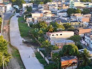 Obra de prolongamento do Canal Bigosse não evoluiu (Foto: Edson Chagas/ A Gazeta)