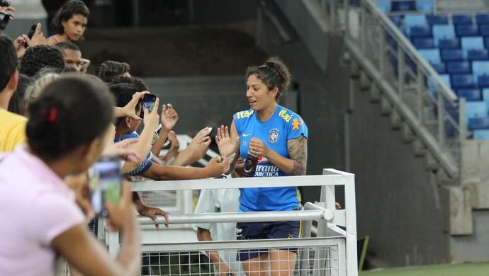 Cristiane, Arena Pantanal, Seleção Feminina, 2015 (Foto: Olímpio Vasconcelos)