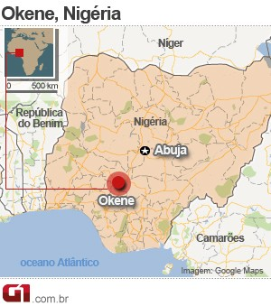 mapa tiroteio igreja nigéria (Foto: 1)