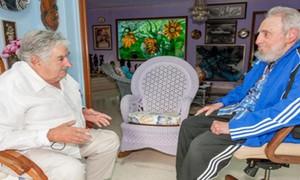 Fidel Castro e Mujica falam sobre zika durante encontro em Havana