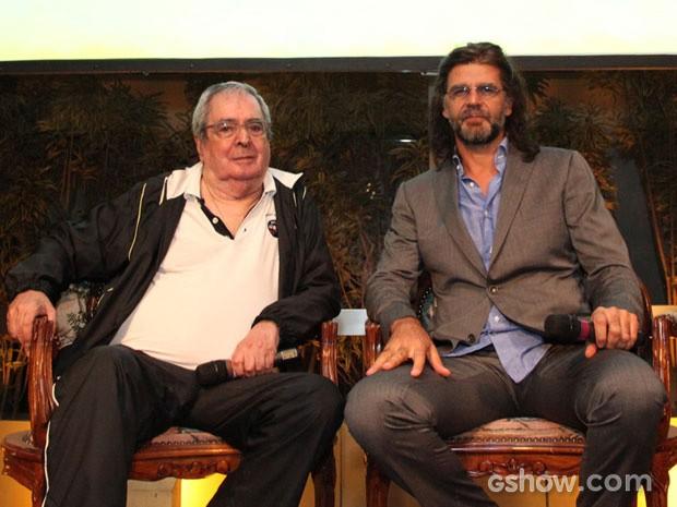 O autor Benedito Ruy Barbosa e o diretor Luiz Fernando Carvalho conversaram com os jornalistas