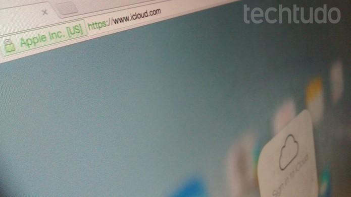 iCloud (Foto: Melissa Cruz/TechTudo)