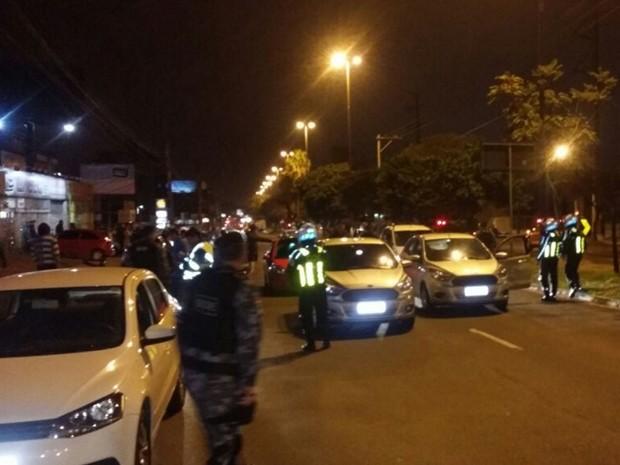 Operação, ação, rachas, avenida Assis Brasil, Zona Norte, Porto Alegre (Foto: Divulgação/BM)