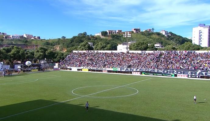 Mamudão; Democrata e Atlético-MG (Foto: Reprodução/ TV Globo Minas)